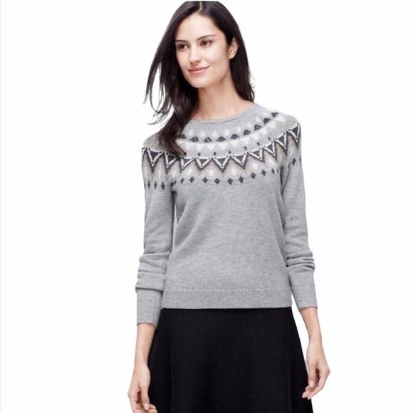 EUC Ann Taylor Fair Isle sweater sz large